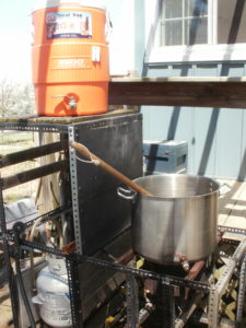 Low-tech Brew Rig, starting out on Almost Bockbier Brew Day